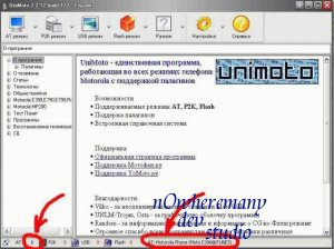 UniMoto - Описание интерфейса